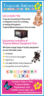 tropical babies hire flyer